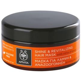 Apivita Holistic Hair Care Citrus & Honey revitalizační maska na vlasy pro obnovu lesku  200 ml