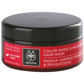 Apivita Holistic Hair Care Sunflower & Honey hidratáló és világosító maszk festett hajra  200 ml