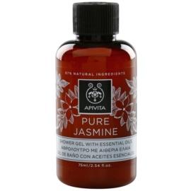 Apivita Pure Jasmine gel za prhanje z eteričnimi olji  75 ml