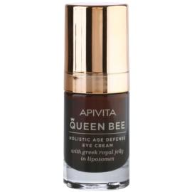 Apivita Queen Bee crema para contorno de ojos antiarrugas y antiojeras  15 ml