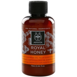 Apivita Royal Honey gel de ducha en crema con aceites esenciales  75 ml