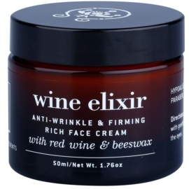 Apivita Wine Elixir Red Wine & Beeswax festigende Anti-Faltencreme für trockene Haut  50 ml