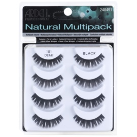 Ardell Natural nalepovací řasy multipack odstín 101 (Demi Black)