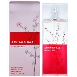 Armand Basi Sensual Red toaletní voda pro ženy 100 ml
