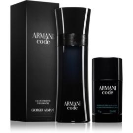 Armani Code zestaw upominkowy – wygodne opakowanie  woda toaletowa 125 ml + dezodorant w sztyfcie 75 g