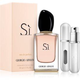 Armani Sì  dárková sada – výhodné balení  parfémovaná voda 50 ml + plnitelný rozprašovač parfémů