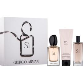 Armani Si подаръчен комплект  парфюмна вода 50 ml + парфюмна вода 15 ml + балсам за тяло 75 ml