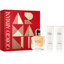 Armani Emporio Because It's You set cadou I.  Eau de Parfum 100 ml + Gel de dus 75 ml + Lotiune de corp 75 ml