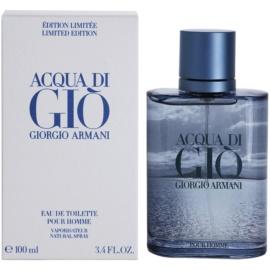 Armani Acqua Di Gio Pour Homme Blue Edition Summer eau de toilette férfiaknak 100 ml