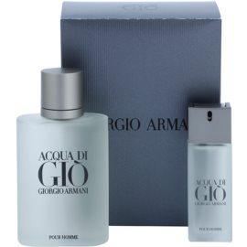 Armani Acqua di Gio Pour Homme подарунковий набір ХХІІ  Туалетна вода 100 ml + Туалетна вода 20 ml