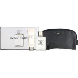 Armani Acqua di Gio Pour Homme darilni set XXIII. toaletna voda 100 ml + gel za prhanje 75 ml + kozmetična torbica