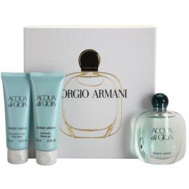Armani Acqua di Gioia dárková sada XV. parfémovaná voda 50 ml + sprchový gel 75 ml + tělové mléko 75 ml