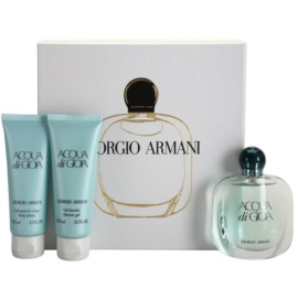 Armani Acqua di Gioia coffret XV. Eau de Parfum 50 ml + gel de duche 75 ml + leite corporal 75 ml