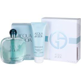 Armani Acqua di Gioia coffret IV. leite corporal 75 ml + Eau de Parfum 100 ml