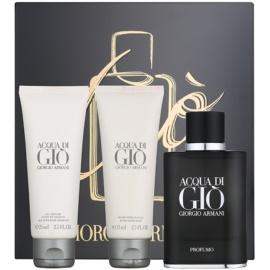 Armani Acqua di Gio Profumo ajándékszett I.  Parfüm 75 ml + tusfürdő gél 75 ml + borotválkozás utáni balzsam 75 ml