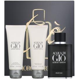 Armani Acqua di Giò Profumo coffret I.  perfume 75 ml + gel de duche 75 ml + bálsamo after shave 75 ml