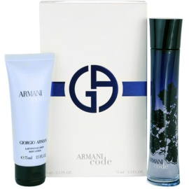 Armani Code Woman dárková sada XI. parfémovaná voda 75 ml + tělové mléko 75 ml
