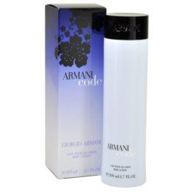 Armani Code Woman leche corporal para mujer 200 ml