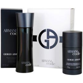 Armani Code Geschenkset IV. Eau de Toilette 75 ml + Deo-Stick 75 ml