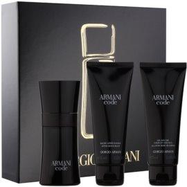 Armani Code set cadou X.  Apa de Toaleta 50 ml + Gel de dus 75 ml + After Shave Balsam 75 ml