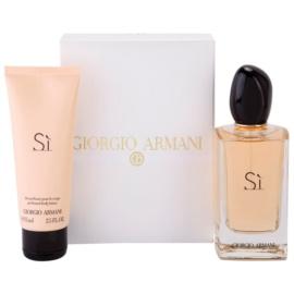 Armani Si подаръчен комплект I. парфюмна вода 100 ml + мляко за тяло 75 ml