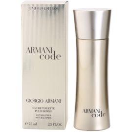 Armani Limited Edition Golden Pour Homme toaletní voda pro muže 75 ml