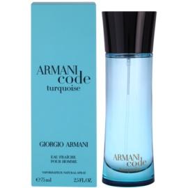Armani Armani Code Turquoise toaletna voda za moške 75 ml