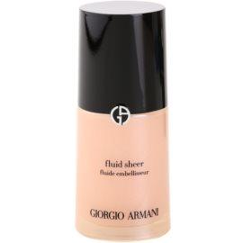 Armani Fluid Sheer озаряващ фон дьо тен цвят 02 Peach 30 мл.