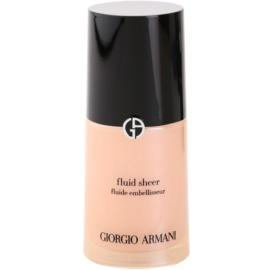Armani Fluid Sheer élénkítő make-up árnyalat 02 Peach 30 ml