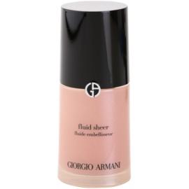 Armani Fluid Sheer озаряващ фон дьо тен цвят 11 Old Pink 30 мл.