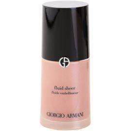 Armani Fluid Sheer podkład rozjaśniający odcień 11 Old Pink 30 ml