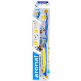 Aronal Kids cepillo de dientes para niños  + 2 cabezales de recambio  Blue & Yellow