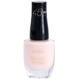 Astor Quick & Shine hitro sušeči lak za nohte odtenek 101 Delicate Morning 8 ml