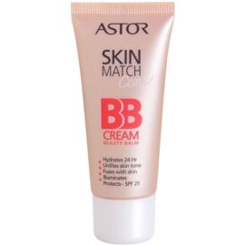Astor SkinMatch Care feuchtigkeitsspendende BB Creme 5 in 1 Farbton 100 Ivory SPF 25  30 ml