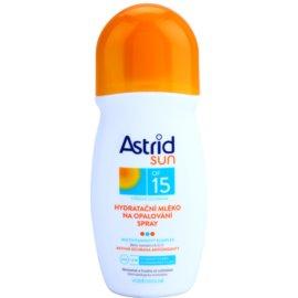 Astrid Sun hydratační mléko na opalování ve spreji SPF 15  200 ml