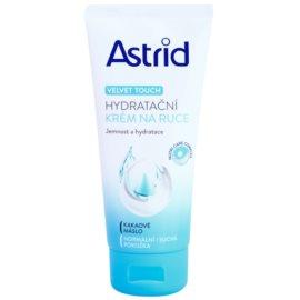 Astrid Velvet Touch Creme hidratante para mãos para pele normal e seca  100 ml