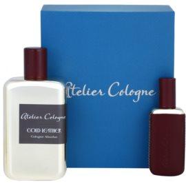 Atelier Cologne Gold Leather dárková sada I. parfém 100 ml + parfém 30 ml + kožené pouzdro