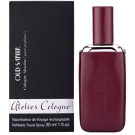 Atelier Cologne Oud Saphir zestaw upominkowy  perfumy 30 ml + skórzanym etui