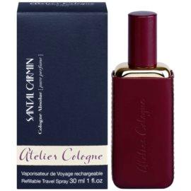 Atelier Cologne Santal Carmin darčeková sada II. parfém 30 ml + kožené púzdro