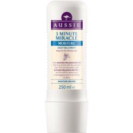 Aussie Miracle Moist mască 3 minute pentru par uscat  250 ml