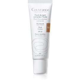 Avène Couvrance flüssiges deckendes Make-up SPF 20 Farbton 5.0 Golden 30 ml