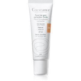 Avène Couvrance flüssiges deckendes Make-up SPF 20 Farbton 2.0 Natural 30 ml