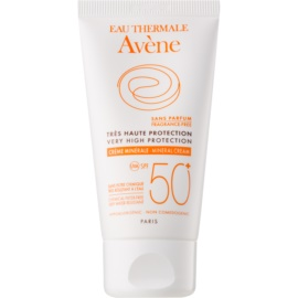 Avène Sun Mineral Protective Face Cream Free of Chemical Filters and Fragrance SPF50+ Waterproof  50 ml