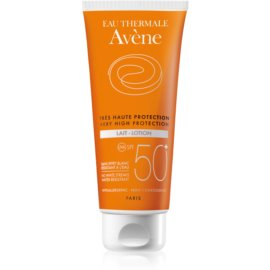 Avène Sun Sensitive losjon za sončenje SPF 50+  100 ml