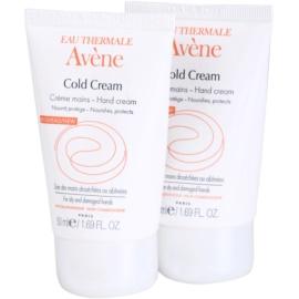 Avène Cold Cream creme de mãos para pele seca a muito seca  2x50 ml