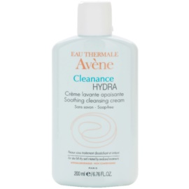 Avène Cleanance Hydra crema limpiadora con efecto calmante  para pieles resecas e irritadas debido a un tratamiento de acné   200 ml