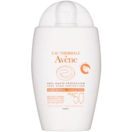 Avène Sun Mineral védő folyadék kémiai szűrőktől mentes SPF 50+  40 ml