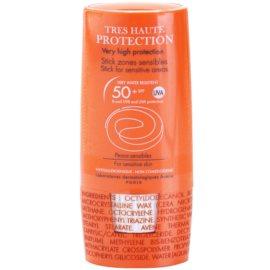 Avène Sun Sensitive stick para zonas sensíveis SPF 50+   8 g