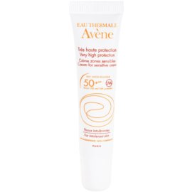 Avène Sun Mineral Protective Cream for Sensitive Areas, Free of Chemical Filters and Fragrance SPF 50+  15 ml