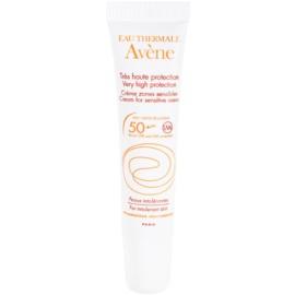 Avène Sun Mineral Beschermende Crème voor Gevoelige plekjes Zonder Chemische Filters en Parfumvrij  SPF 50+  15 ml